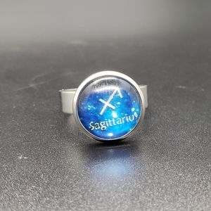 Sagittarius Zodiac Astrology Adjustable Ring